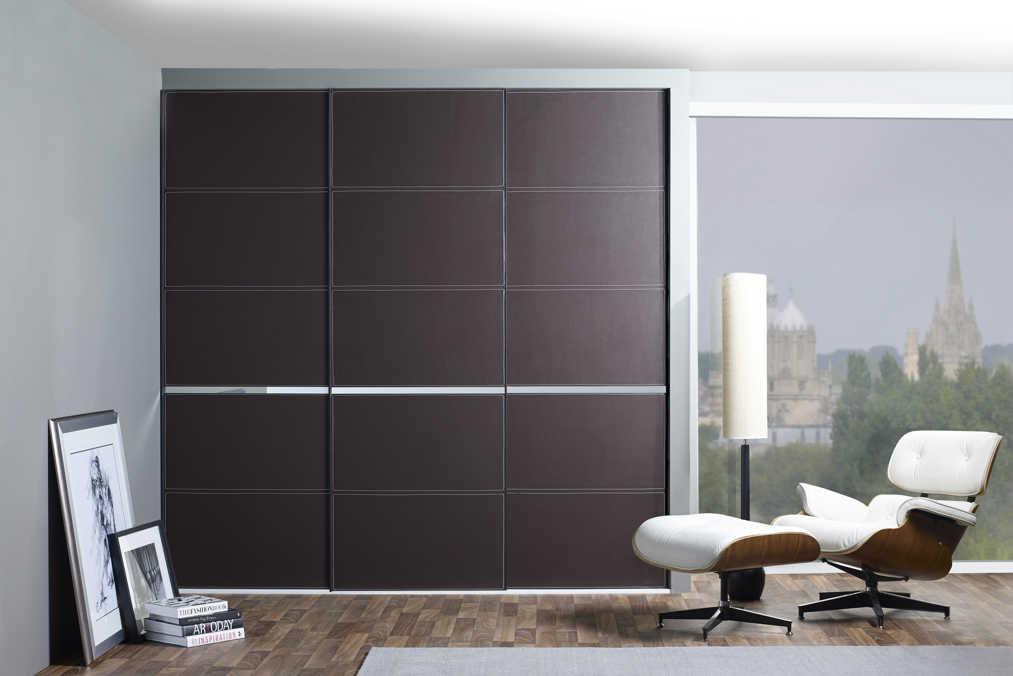 Draks Answers Call For Luxurious Leather In Wardrobe Doors