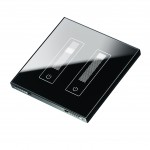 2G Electronic Dimmer Glass Effect Polished Onyx Angled