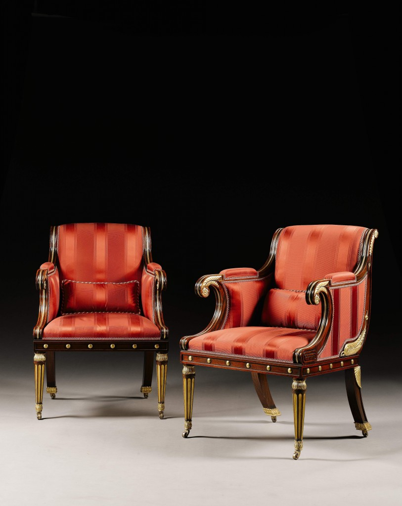 Regency Chairs in the manner of a Henry Holland design