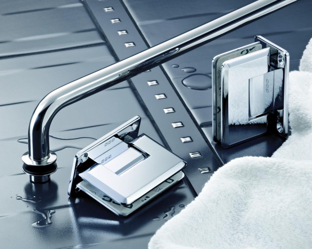Shower Hinge & Towel Rail
