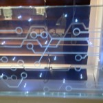 Laminated LEDs with etched design