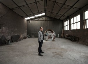 Wang Yuyang and the 'Equip' sculpture for Swiss luxury brand Bally's Jean Prouvé 6x9 Demountable House installation