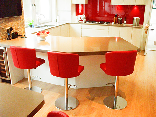Doris Red Barstools