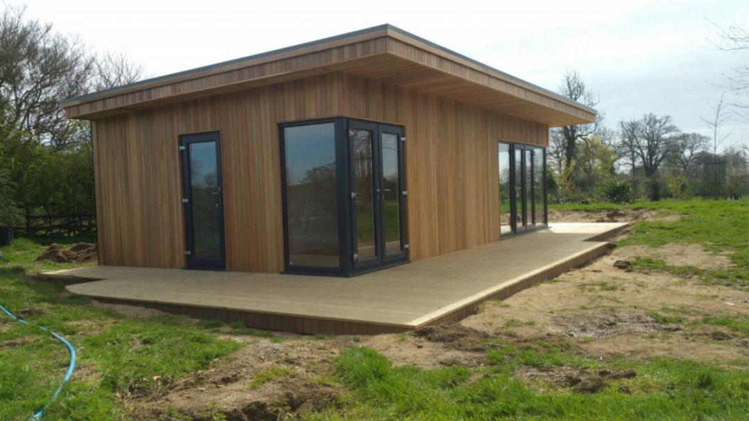 Oeco Garden Rooms Case Study Building A 9m X 5m Double Corner Canopy